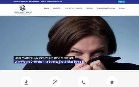 Screenshot of Home Page odormastersusa.com - Odor Masters USA - captured Oct. 7, 2014