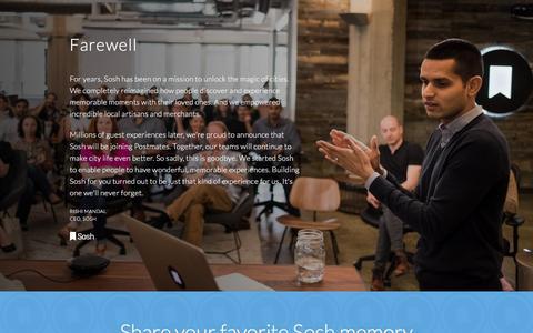 Screenshot of Home Page sosh.com - Sosh   Farewell - captured Nov. 26, 2015
