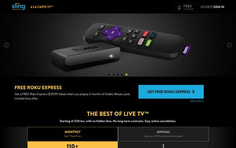 Sling TV - Watch Live Arabic Channels on the #1 Live International TV provider in the US