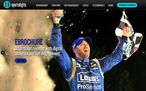 Screenshot of Home Page sportsdigita.com - Sportsdigita | Interactive Sports Agency - captured Sept. 21, 2018
