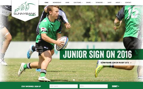 Screenshot of Home Page sunnybankrugby.com.au - Sunnybank Rugby Queensland | Australia - captured Feb. 23, 2016