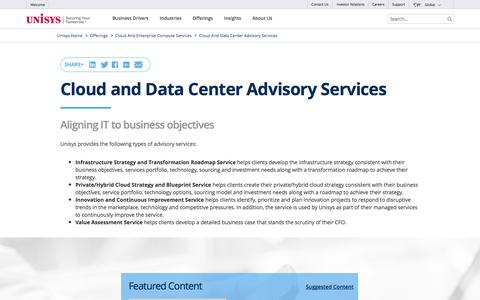 Cloud and Data Center Advisory Services