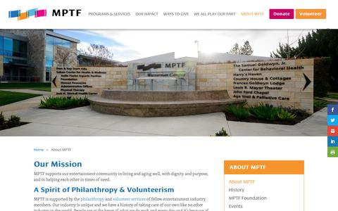 Screenshot of About Page mptf.com - About MPTF - MPTF - captured July 26, 2018