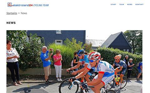 Screenshot of Press Page elektroland24-cycling-team.de - News - elektroland24 Cycling Team - captured Feb. 17, 2018