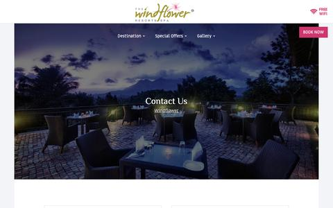 Screenshot of Contact Page thewindflower.com - Contact Us - captured Oct. 9, 2018