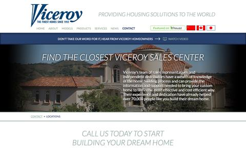 Screenshot of Contact Page Locations Page viceroy.com - Viceroy Houses | Contact | Locations - captured Oct. 26, 2017