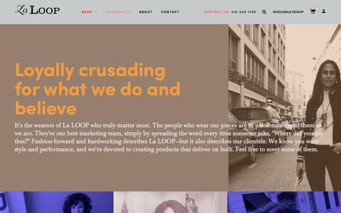 Screenshot of Press Page laloop.com - News – La LOOP - captured July 15, 2018