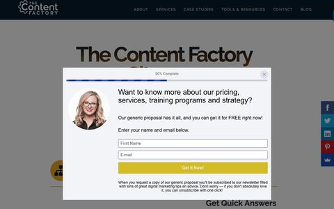 Screenshot of Site Map Page contentfac.com - Sitemap | The Content Factory | Digital Marketing and PR - captured Aug. 21, 2018