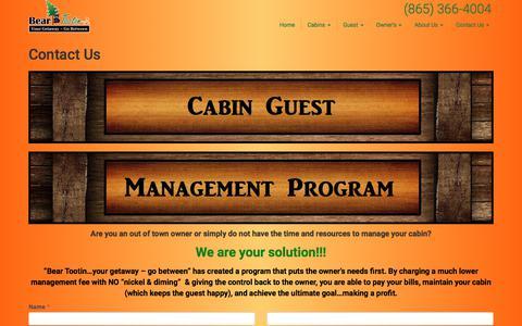 Screenshot of Contact Page beartootin.com - Contact Us – Bear Tootin - captured June 29, 2017