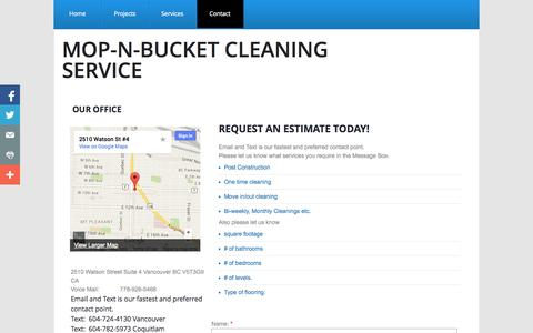 Screenshot of Privacy Page Contact Page mop-n-bucket.com - Contact - captured Oct. 25, 2014