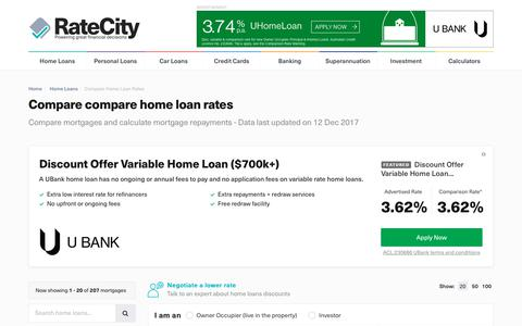 Compare home loan rates | Rates from % | RateCity.com.au