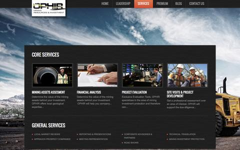 Screenshot of Services Page ophirmri.com - Services     OphirMRI - captured Feb. 16, 2016