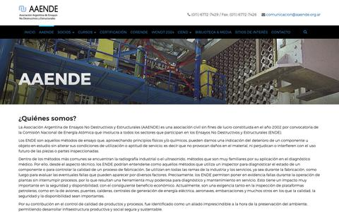 Screenshot of About Page aaende.org.ar - AAENDE – AAENDE - captured Oct. 4, 2018