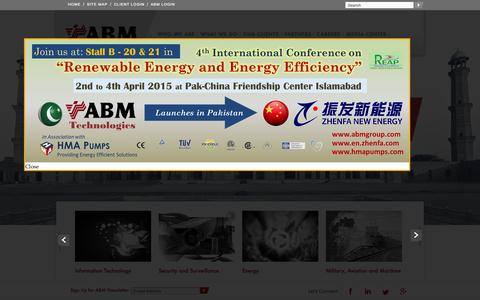 Screenshot of Home Page abmgroup.com - Abm Group Of Company - captured Aug. 5, 2015