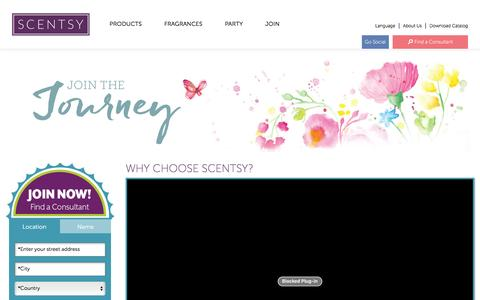 Screenshot of Signup Page scentsy.com - Home Party Businesses & Fun Direct Selling Company | Join Scentsy - captured May 23, 2016