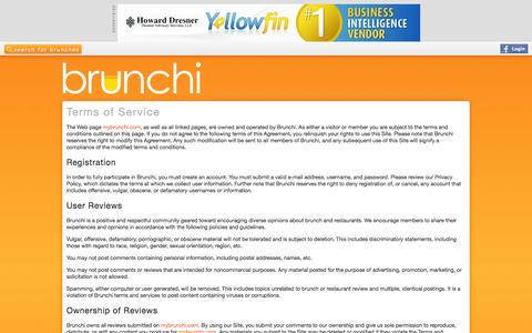 Screenshot of Terms Page brunchi.co - Brunchi | Search, save, rate, and review hundreds of brunch spots in New York City. - captured Sept. 30, 2014