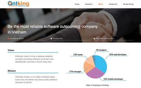 Screenshot of About Page antking.net - Antking | Vietnam Software Outsourcing Company | E Commerce Development Urgent Support - captured July 26, 2016