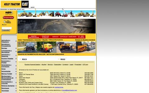 Screenshot of Landing Page kellytractor.com - Motoconformadoras - Motoniveladoras Mauldin en Kelly Tractor - captured Aug. 12, 2016
