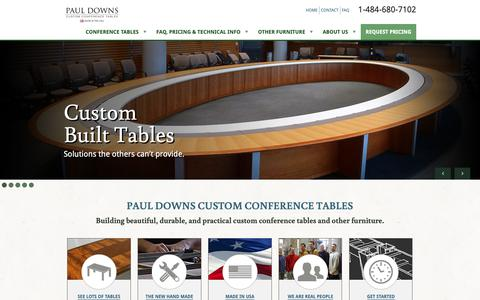 Screenshot of Home Page custom-conference-tables.com - Custom Conference Tables | Paul Downs - captured Sept. 27, 2018