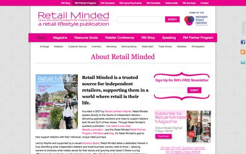 Screenshot of About Page retailminded.com - About Retail Minded ‹ Retail Minded - captured Sept. 19, 2014
