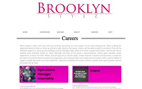 Screenshot of Jobs Page bkstylz.com - Brooklyn Stylz Career - captured Nov. 13, 2018