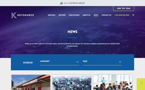 Screenshot of Press Page keysource.co.uk - News - Welcome to Keysource - captured Dec. 10, 2018