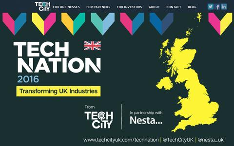 Screenshot of Home Page techcityuk.com - Tech City UK - captured Feb. 21, 2016