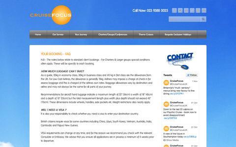 Screenshot of FAQ Page cruisefocus.co.uk - Contact Us - CruiseFocus - captured Nov. 2, 2014