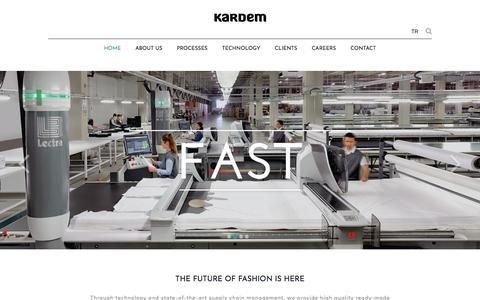 Screenshot of Home Page kardem.com - KARDEM - Fast Fashion Flexible: high quality ready-made garments - captured Sept. 20, 2018