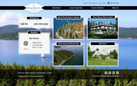 Screenshot of About Page knowlesco.com - About Us Landing Page   About Knowles   The Knowles Company - captured Oct. 22, 2017