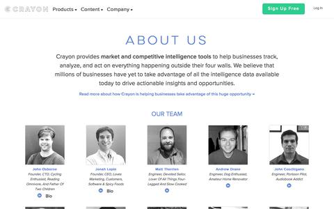 Screenshot of About Page crayon.co - About Crayon | Meet the Crayon Team - captured Nov. 10, 2017