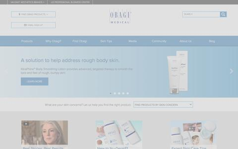 Screenshot of Home Page obagi.com - Obagi | Skin Care Products, Professional Skin Care Line - captured Feb. 10, 2017