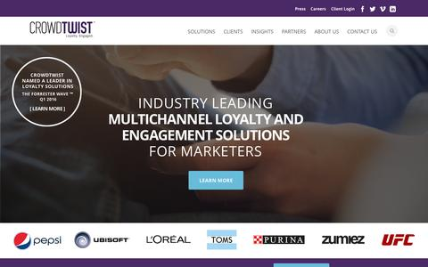 CrowdTwist Multichannel Loyalty and Engagement Solutions | Loyalty Engaged.