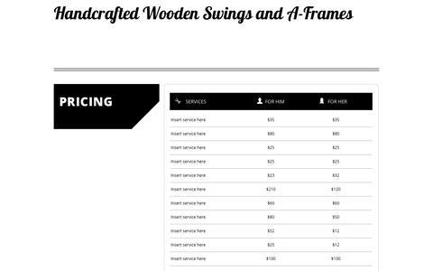 Screenshot of Pricing Page swingplans.com - PRICING - captured April 10, 2017