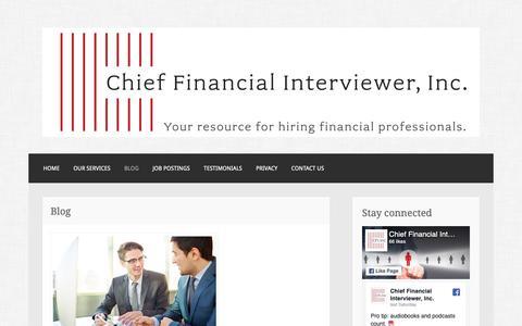 Screenshot of Blog financialinterviewer.com - Blog – Chief Financial Interviewer, Inc. - captured Sept. 27, 2018