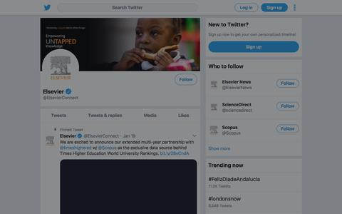 Tweets by Elsevier (@ElsevierConnect) – Twitter