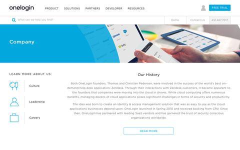 Identity Management & Single Sign-On (SSO) Company | OneLogin™
