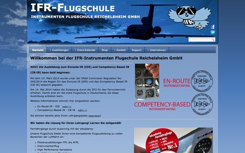 Screenshot of Home Page ifr-flugschule.de - IFR-Flugschule GmbH - Startseite - captured Oct. 3, 2014