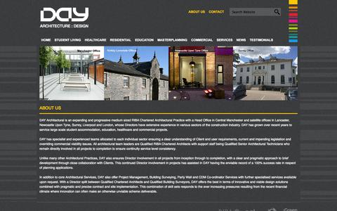 Screenshot of About Page day-architectural.com - About DAY ARCHITECTURE : DESIGN - captured Oct. 5, 2014