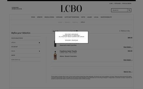 Añejo | LCBO