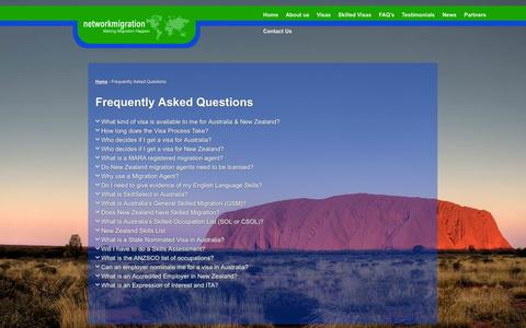 Screenshot of FAQ Page networkmigration.co.za - Frequently Asked Questions - network migration - captured Nov. 5, 2014