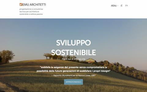 Screenshot of Home Page emuarchitetti.com - Emu Architetti  |  progettazione e consulenza tecnica per architettura sostenibile e edilizia passiva - captured Jan. 29, 2016
