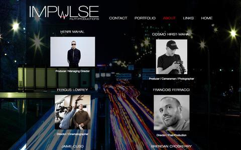 Screenshot of Team Page impulsefilm.com - Team | Impulse Film Productions Inc. - captured Oct. 6, 2014
