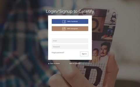 Screenshot of Login Page casetify.com - Sign in - Casetify - captured Sept. 22, 2014