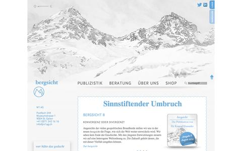 Screenshot of Home Page m1ag.ch - Bergsicht: M1 AG - Konrad Hummler - captured Sept. 30, 2014