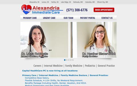 Screenshot of Jobs Page alexandriaurgentcare.com - Careers | Internal Medicine | Family Medicine | Pediatrics | General Practice - captured Oct. 8, 2017