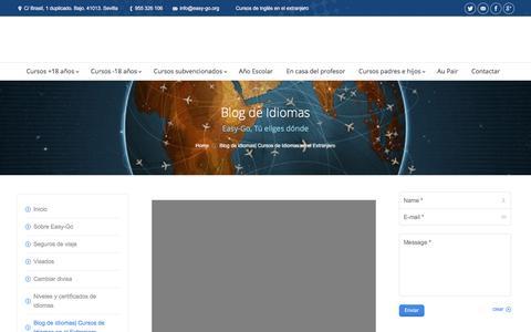 Screenshot of Blog easy-go.org - Blog | Cursos de Idiomas en el Extranjero - captured May 14, 2017