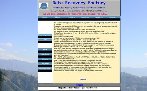 Screenshot of Press Page datarecoveryfactory.com - MAGIC DISK DETECTOR - captured Feb. 4, 2016
