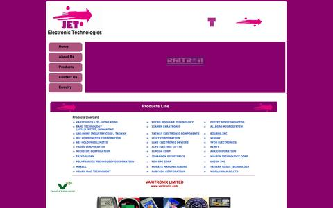 Screenshot of Products Page jet.net.in - ::Welcome to Jagruti Electronic Technologies:: - captured Oct. 6, 2014