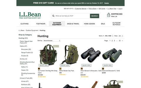 Hunting Gear and Hunting Clothing at L.L.Bean